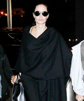 Angelina Jolie Is the Picture of Airport Chic in an All-Black Ensemble