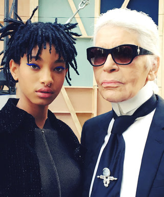 Karl Lagerfeld Welcomes Willow Smith to Chanel's #PFW Show, Taps Her as Brand Ambassadress