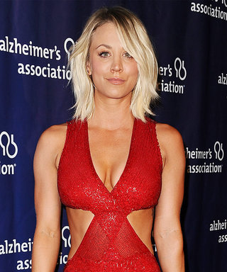 Kaley Cuoco Shows Off Her Killer Abs in Cut Out Red Gown