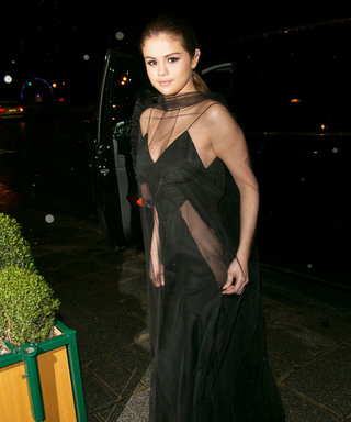 Selena Gomez Radiates in a Sheer Black Dress at a Post-PFW Louis Vuitton Dinner