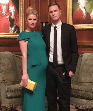 Nicky Hilton Shows Off Her Growing Bump in a Gorgeous Green Gown