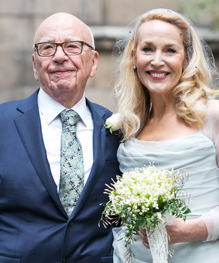 """See Jerry Hall's Photo of Her """"Beautiful Family"""" from Her Wedding to Rupert Murdoch"""
