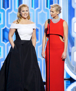 Besties Amy Schumer and Jennifer Lawrence Present Together at the Golden Globes