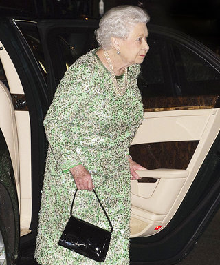 Queen Elizabeth Sparkles in Green Sequined Dress for a Rare Night Out in London