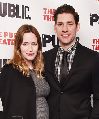 Pregnant Emily Blunt Supports John Krasinski at the Opening of His Off-Broadway Show, Dry Powder