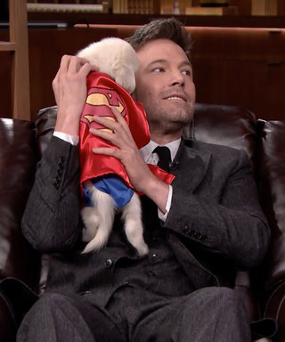 Watch Ben Affleck Cuddle with a Puppy That's Dressed as Superman