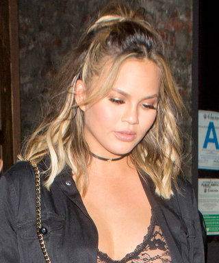 Chrissy Teigen Shows Off Baby Bump in Sheer Top for Night Out with John Legend