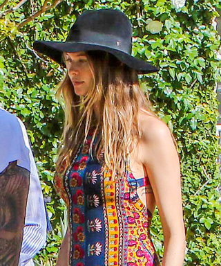 Behati Prinsloo Shows Off Her Growing Bump in Chic Boho Style