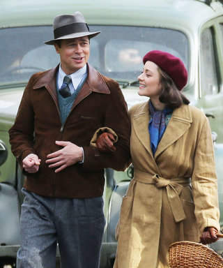 Brad Pitt and Marion Cotillard Make the Perfect Couple on the Set of Five Seconds of Silence