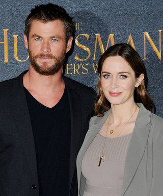 Emily Blunt Shows Off Her Baby Bump in a Curve-Hugging Dress