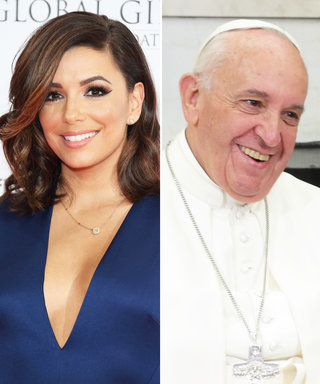 Eva Longoria Prays with Pope Francis in a Sweet New Photo