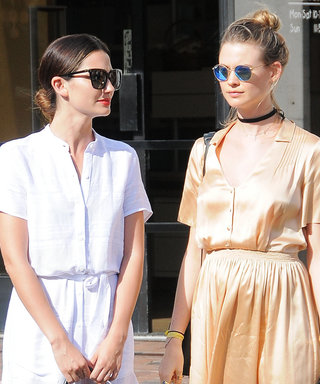 Behati Prinsloo and Her Growing Bump Go Shopping with Lily Aldridge