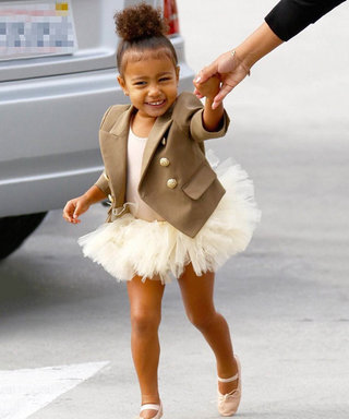 North West's Adorable Braids Are as Long as She Is Tall