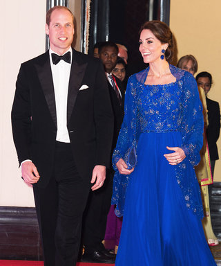 Kate Middleton Wows in a Cobalt Gown at Glamorous India Gala