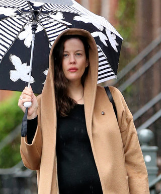 Liv Tyler's Baby Bump Is on Display During Rainy Day Outing