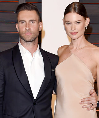 Pregnant Behati Prinsloo and Adam Levine Have Date Night Courtside at Kobe Bryant's Final Game