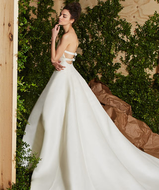 Carolina Herrera Does Classic with a Twist for Her Spring 2017 Bridal Collection