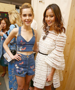 Jamie Chung Made Her Own Custom Denim at Levi's Coachella Pool Party