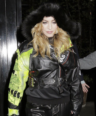 Madonna Rocks an All-Leather Look on a Dinner Date with Son Rocco