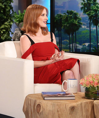 Jessica Chastain Explains Why She Spanked Madonna to Ellen DeGeneres