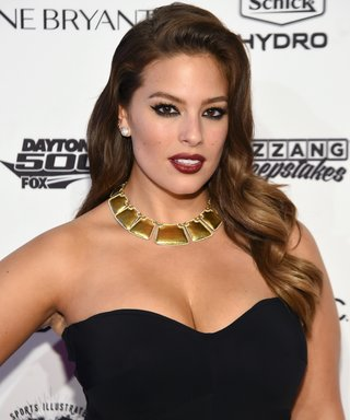 Sports Illustrated cover model Ashley Graham poses at the Sports Illustrated Swimsuit 2016 - NYC VIP press event.