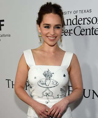 ctress Emilia Clarke attends the launch of the Parker Institute for Cancer Immunotherapy.