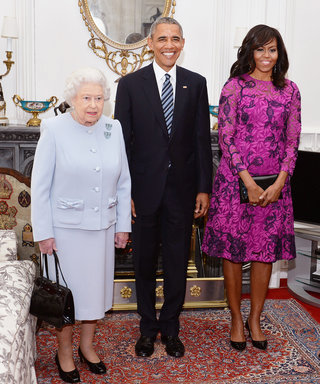 Michelle Obama Looks Polished in Purple at Belated 90th Birthday Lunch for Queen Elizabeth