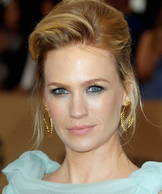 January Jones Just Wore the Most Un-Betty Draper Hairstyle Ever