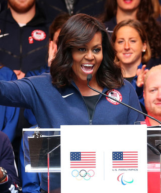 Michelle Obama Counts Down to the Olympics in N.Y.C. with an Inspiring Speech
