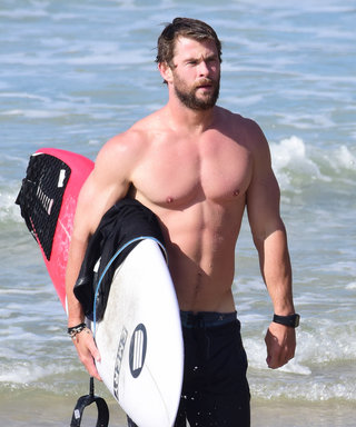 Chris Hemsworth and His Buff Dad's Shirtless Surf Sessions Will Astound You