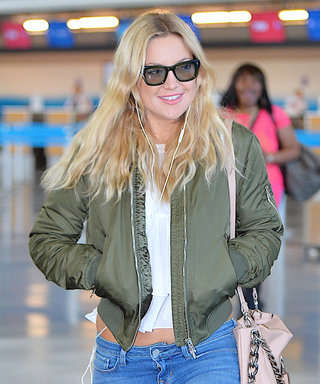 Kate Hudson Bares Her Midriff as She Arrives in New York City
