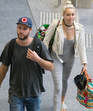 Liam Hemsworth and Miley Cyrus Look in Sync as They Arrive at Brisbane Airport