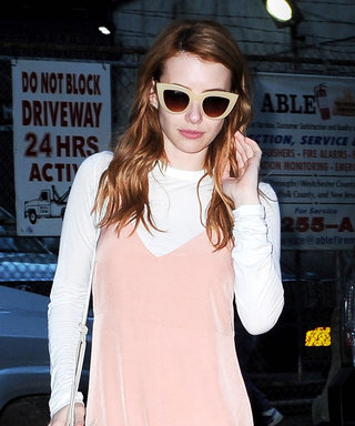 Emma Roberts Expertly Demos How to Layer a Tee Under a Slip Dress