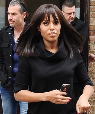 Kerry Washington Steps Out in All-Black Maternity Look (and Bangs!)