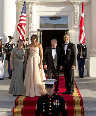 Michelle Obama Stuns in Naeem Khan at Nordic State Dinner