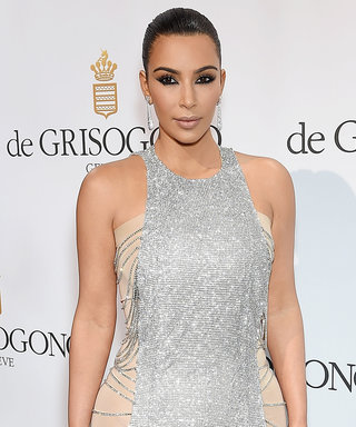 Kim Kardashian West Dazzles in Silver Chain Mail at Swanky Cannes Party