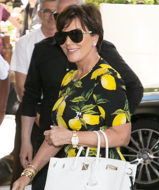 Kris Jenner Shows Her Love for Beyoncé in a Lemon-Covered Dress