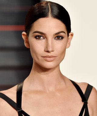 See Lily Aldridge's Too-Cute Daughter Plant a Smooch on the Model