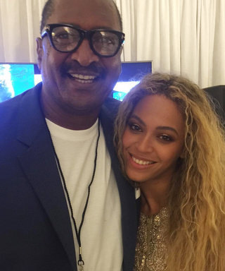 """Beyoncé Poses with """"Proud Dad"""" Mathew Knowles After Her Houston Concert"""