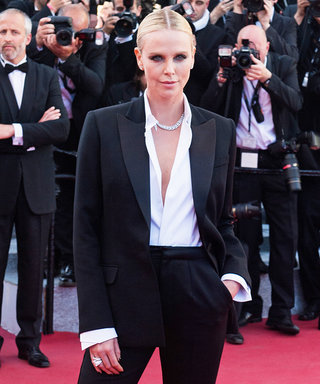Charlize Theron Just Rocked a Dior Couture Tux at Cannes