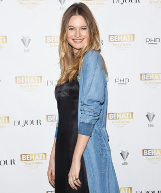 Behati Prinsloo Shows Off Her Growing Baby Bump In a String Bikini