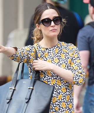 Rose Byrne Hails a Cab Like a Pro in a Floor-Length Floral Dress