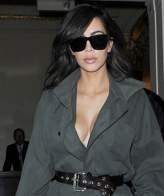 Kim Kardashian West Slays in a Military-Style Jumpsuit Before Leaving London
