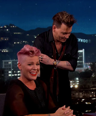 Pink Gets Surprised by Her Ultimate Crush Johnny Depp and Her Reaction Is Too Cute