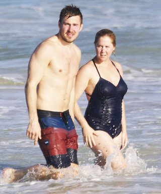 Amy Schumer Hits the Beach in a One-Piece with Her Boyfriend