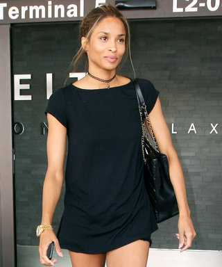 Ciara Wears the Shortest Shorts Ever to the Airport