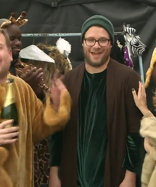 Watch Rose Byrne and Seth Rogen Hilariously Perform the Lion King Musical on the Street