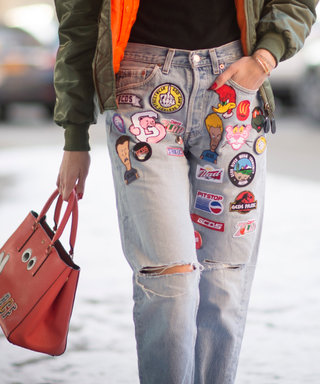 How to Apply Patches to Your Jeans Like a Street Style Star