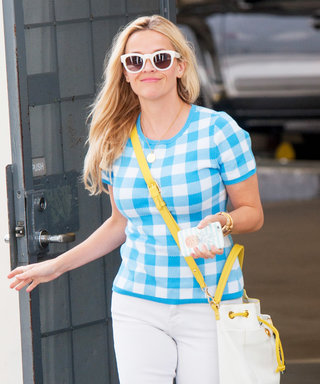 Reese Witherspoon Adds a Pop of Sunshine to Her Outfit with Bright Accessories