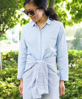Genius Styling Trick: How to Create This Cute Dress from Shirts You Already Own